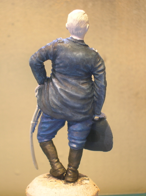 FIG maison:US civil war Gal F. BARLOW  [70mm Sculpey Firm] Début de la couleur... DSCN9481
