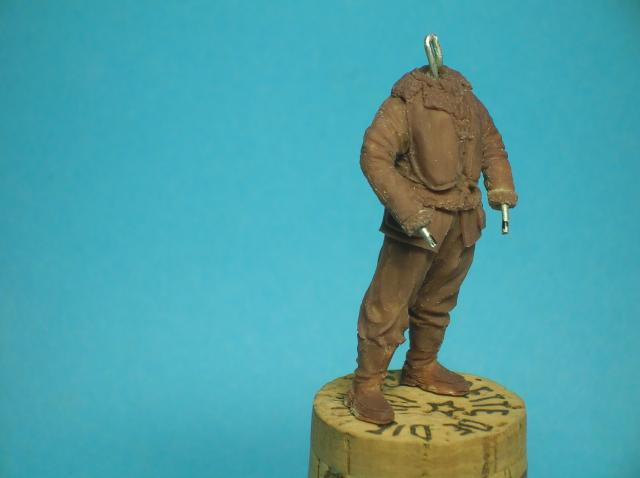 Pilote RAF WW2, 54 mm, sculpture, tirage résine et peinture. 32_zps3686cf3b