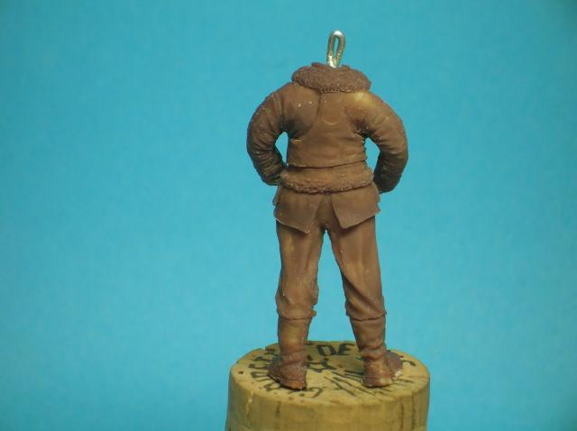 Pilote RAF WW2, 54 mm, sculpture, tirage résine et peinture. 34_zps141a53db