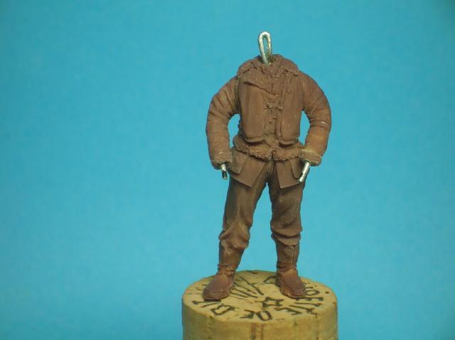 Pilote RAF WW2, 54 mm, sculpture, tirage résine et peinture. 36_zps39913eba