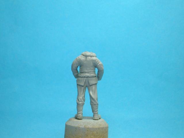 Pilote RAF WW2, 54 mm, sculpture, tirage résine et peinture. Moulage39_zpsb2dca513