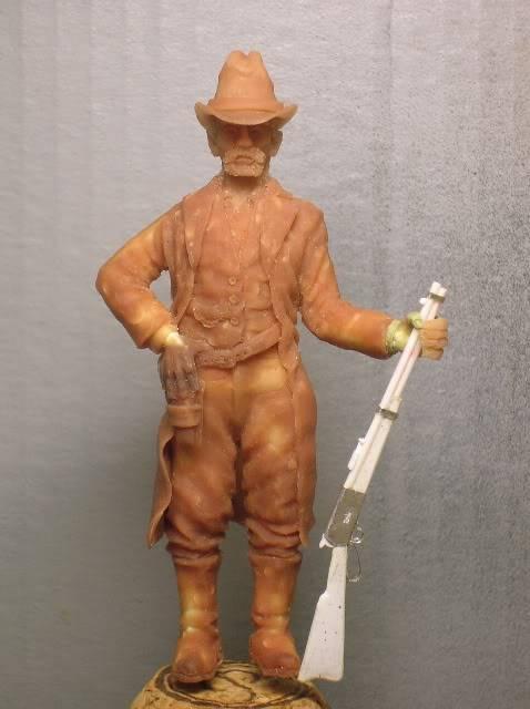 """Wild West Gunman, Figurine """"maison"""" 90 mm MAJ 15/06/12 TERMINEE DSCN1067"""