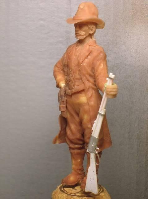 """Wild West Gunman, Figurine """"maison"""" 90 mm MAJ 15/06/12 TERMINEE DSCN1074"""