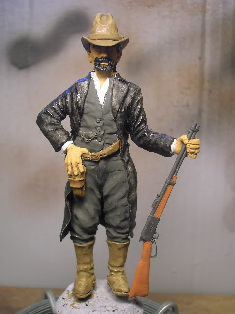 """Wild West Gunman, Figurine """"maison"""" 90 mm MAJ 15/06/12 TERMINEE DSCN1207"""