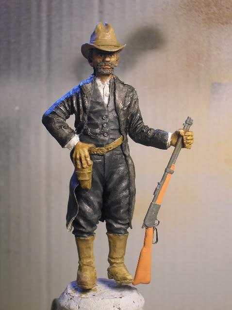 """Wild West Gunman, Figurine """"maison"""" 90 mm MAJ 15/06/12 TERMINEE DSCN1285"""