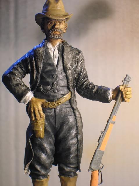 """Wild West Gunman, Figurine """"maison"""" 90 mm MAJ 15/06/12 TERMINEE DSCN1286"""