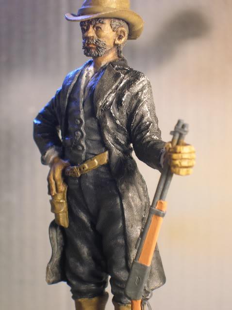 """Wild West Gunman, Figurine """"maison"""" 90 mm MAJ 15/06/12 TERMINEE DSCN1288"""