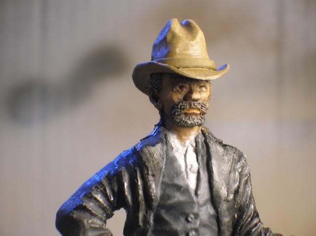 """Wild West Gunman, Figurine """"maison"""" 90 mm MAJ 15/06/12 TERMINEE DSCN1291"""