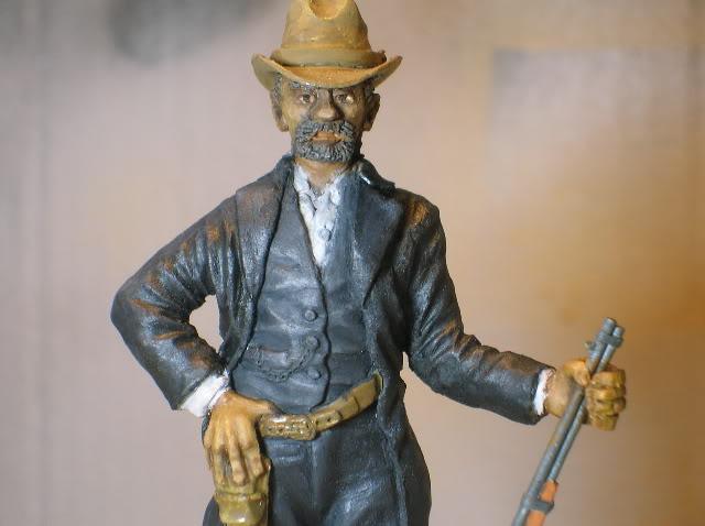 """Wild West Gunman, Figurine """"maison"""" 90 mm MAJ 15/06/12 TERMINEE DSCN1302"""