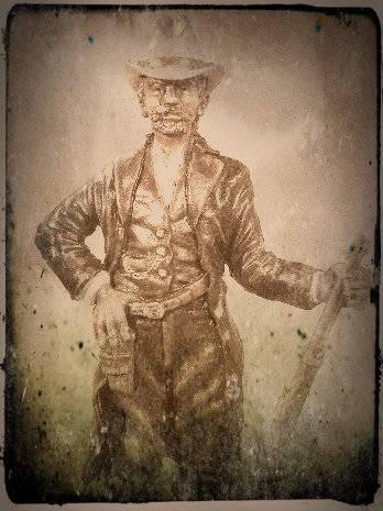 """Wild West Gunman, Figurine """"maison"""" 90 mm MAJ 15/06/12 TERMINEE DSCN9331-2-2"""