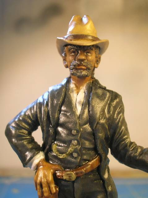 """Wild West Gunman, Figurine """"maison"""" 90 mm MAJ 15/06/12 TERMINEE DSCN9332"""