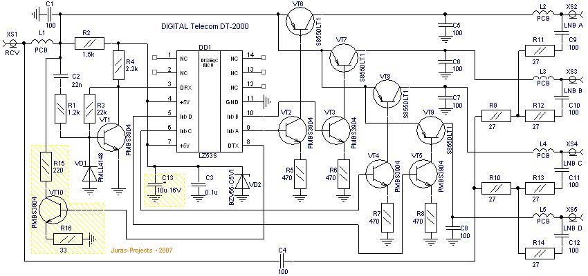 Tự ráp mạch trộn 4NLB D_digital_dt2000
