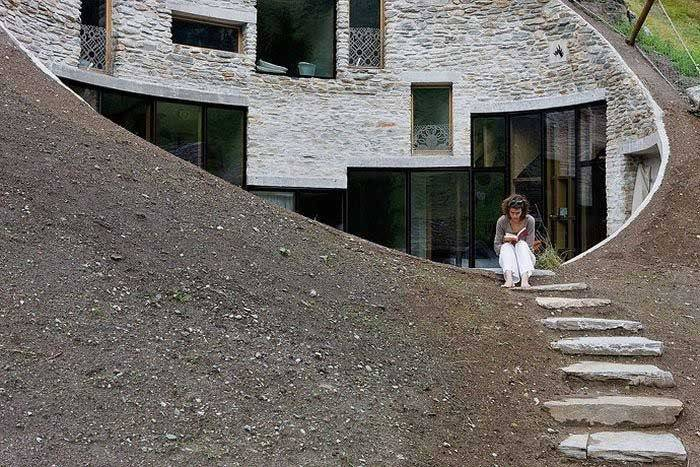 Cool House Inside a Hill in Switzerland 8f39dc0a