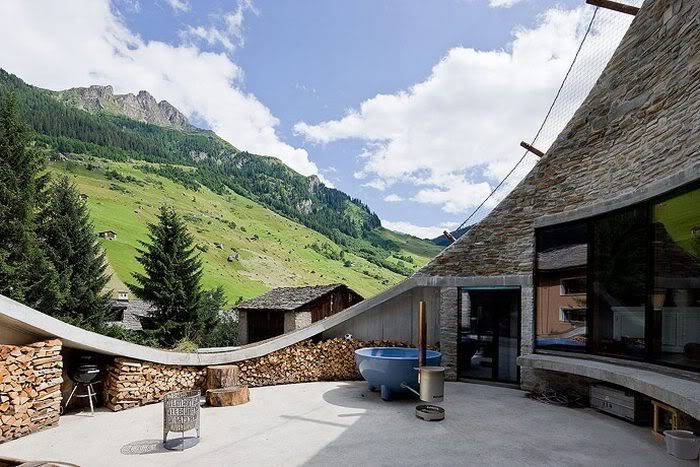 Cool House Inside a Hill in Switzerland 99e62312