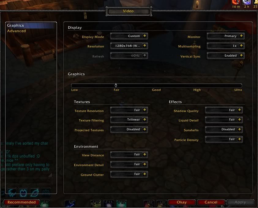 Non WoW related screens - Page 3 Settings