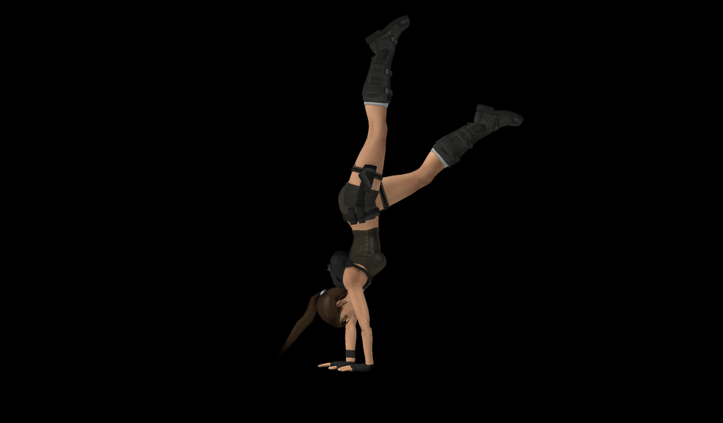 XNA Model Work Handstand