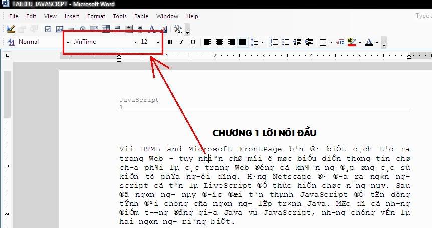 Cách khắc phục lỗi font chữ thường gặp ở word, excell Loi_font