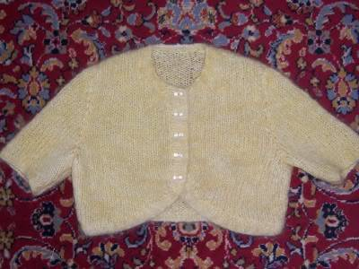 Projects! YellowMohairBolero