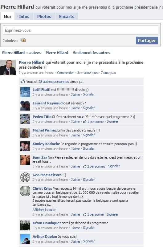 Pierre Hillard President? FacebookPHillard