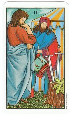 Today's Card - Connolly Tarot By Scamphill 2ofSwordsConnollyTarot_0005