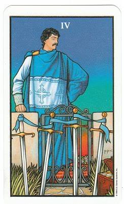 Today's Card - Connolly Tarot By Scamphill 4ofSwordsConnollyTarot_0011