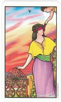 Today's Card - Connolly Tarot By Scamphill 5ofPentaclesConnollyTarot_0011