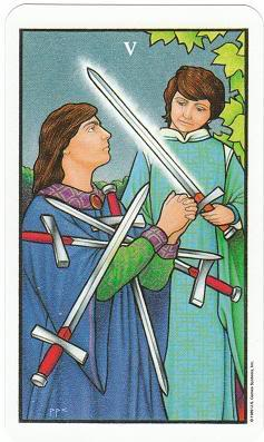 Today's Card - Connolly Tarot By Scamphill 5ofSwordsConnollyTarot_0005