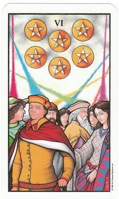 Today's Card - Connolly Tarot By Scamphill 6ofPentaclesConnollyTarot_0005