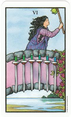 Today's Card - Connolly Tarot By Scamphill 6ofSwordsConnollyTarot_0011
