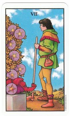 Today's Card - Connolly Tarot By Scamphill 7ofPentaclesConnollyTarot_0005