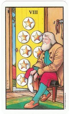Today's Card - Connolly Tarot By Scamphill 8ofPentaclesConnollyTarot_0005