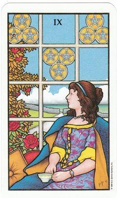 Today's Card - Connolly Tarot By Scamphill 9ofPentaclesConnollyTarot_0005