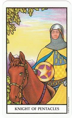 Today's Card - Connolly Tarot By Scamphill KnightOfPentaclesConnollyTarot_0005