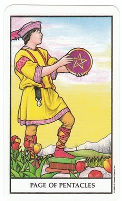 Today's Card - Connolly Tarot By Scamphill PageofPentaclesConnollyTarot_0005