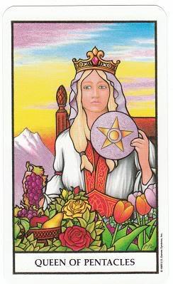 Today's Card - Connolly Tarot By Scamphill QueenOfPentaclesConnollyTarot_0005