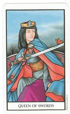 Today's Card - Connolly Tarot By Scamphill QueenofSwordsConnollyTarot_0005