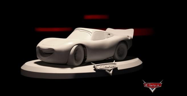 FLASH MC QUEEN & SALLY GENTLE GIANT STATUE Cars-SpeedMcqueen