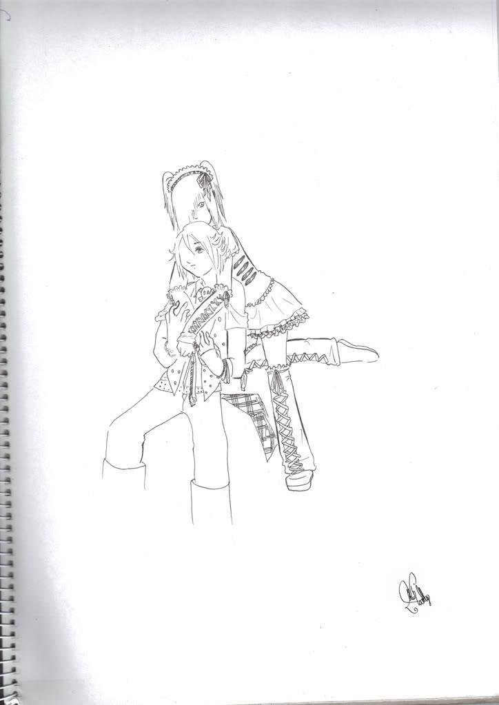 Mis dibujos de An Cafe~ xD Bouxmikuu