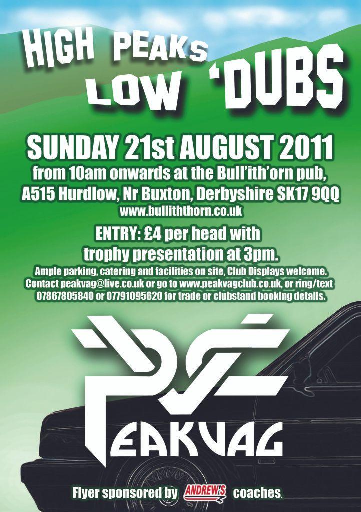 High Peaks Low 'Dubs - Peak VAG Club Flyer2011