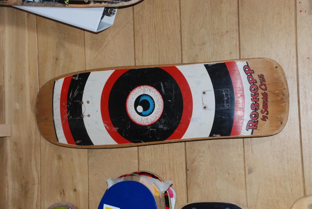 3 used santa cruz rob roskopp eye and targets  DSC_0980