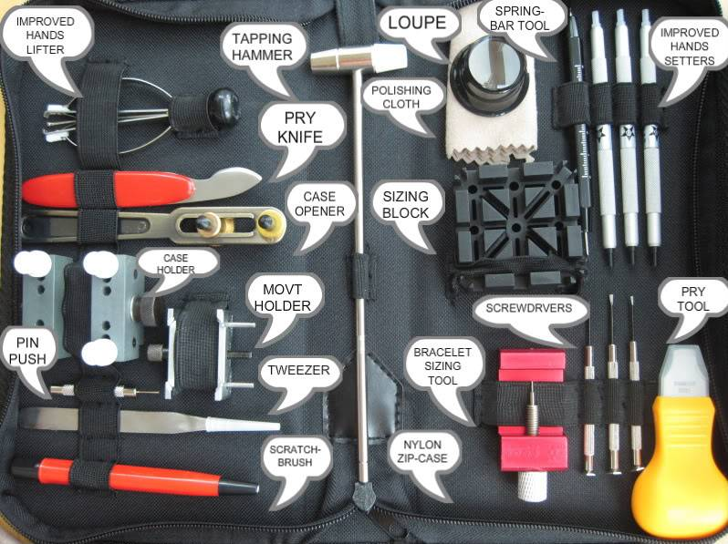IMPROVED watch mod/ maintenance TOOL KIT $62.00 USD shipped registered   HANDS022