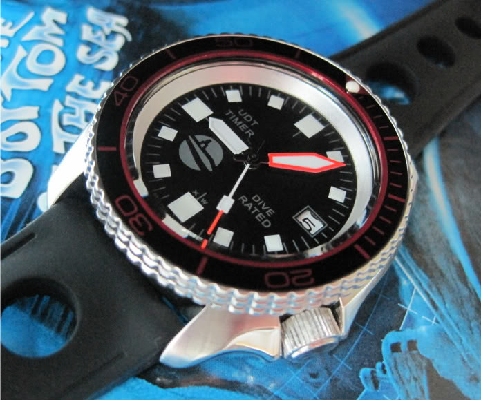 "SOLD!!!! SEIKO SKX007 one-of-a-kind custom  ""SUB-UDT"" diver....$275 shipped  HANDS936"