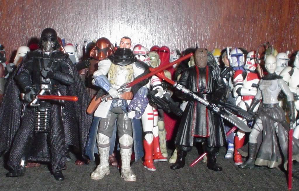 My custom Sith figures Sith100