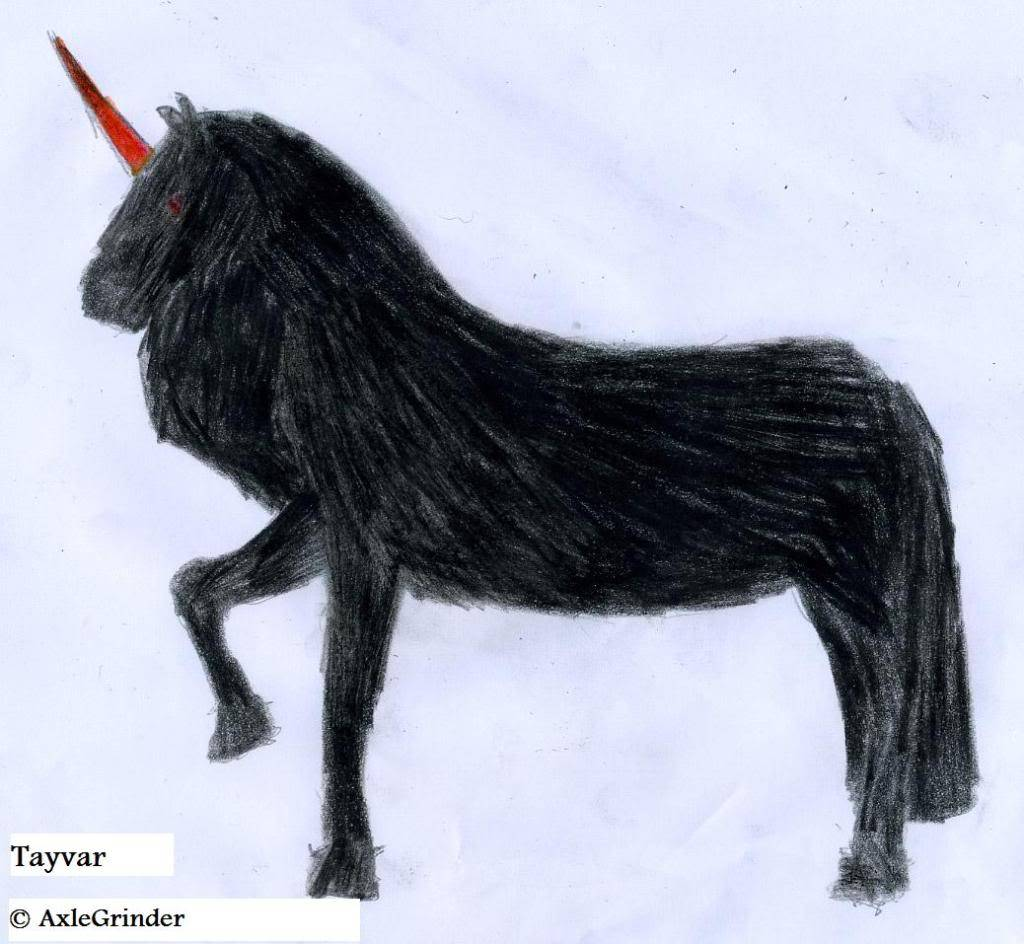 AxleGrinder's Drawings of Mythical Creatures Tayvar