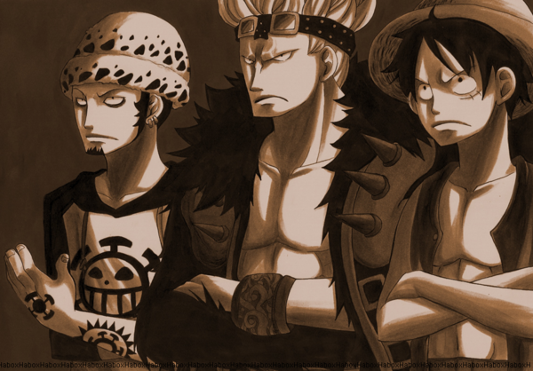 ¿Què supernova prefieres? One Piece. Law_Kid_Luffy_by_habox