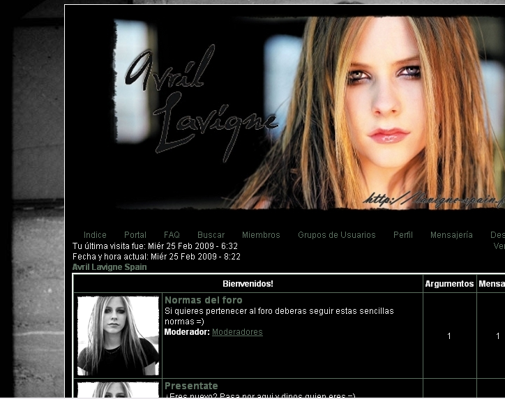 Avril Lavigne Spain VISTA