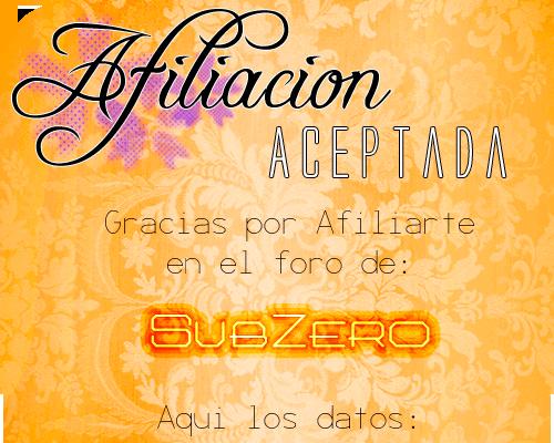 Afiliación Aceptada (SubZero) Afacep