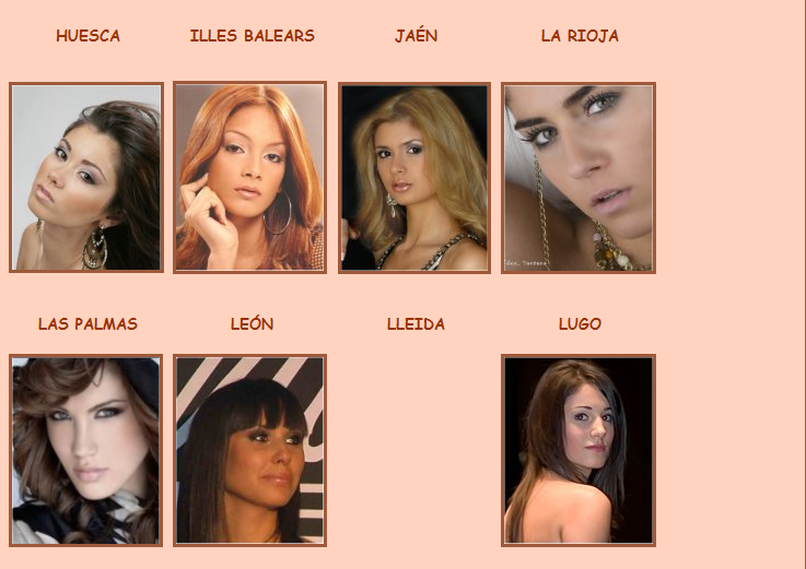 Road to Miss Espana 2009 - results 8-1-20098-11-26