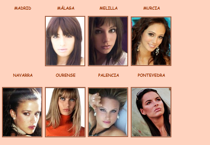 Road to Miss Espana 2009 - results 8-1-20098-11-50