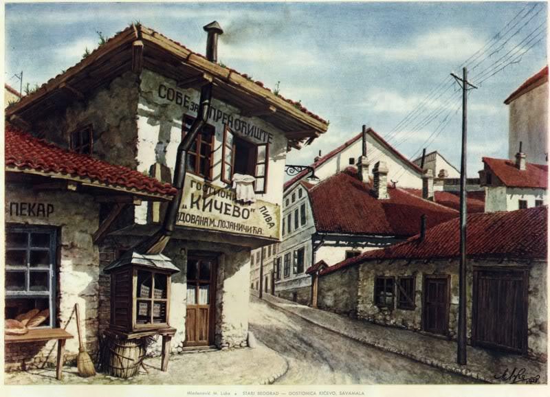 Stari Beograd u očima umetnika GostionicaKicevoSavaMala1600x1200